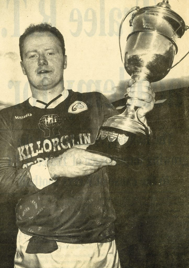Tommy Byrne (captain) lifts the O Connor Cup (1997)