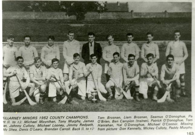 Killarney Minor Hurling team (Co. Champions) 1952