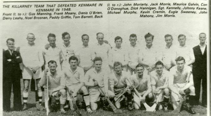 Killarney Senior Hurling team 1948