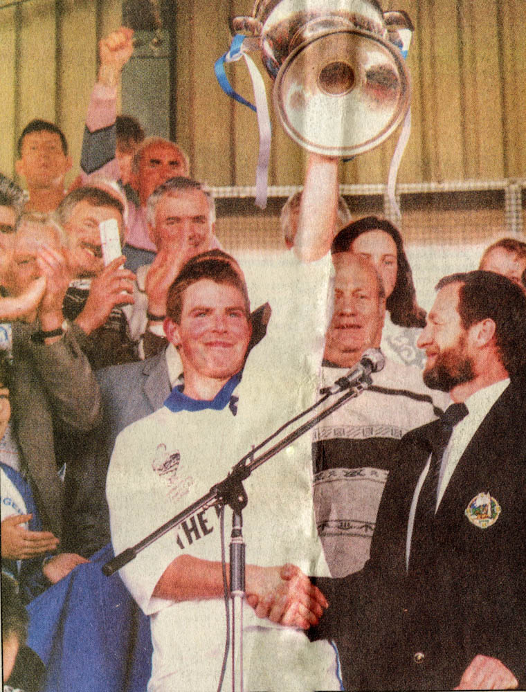 James O Shea received the Bishop Moynihan Cup