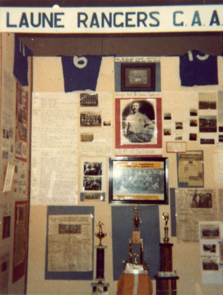 Samples of the Laune Rangers' section of 'This is Killorglin Exhibition' in the CYMS Hall in September.