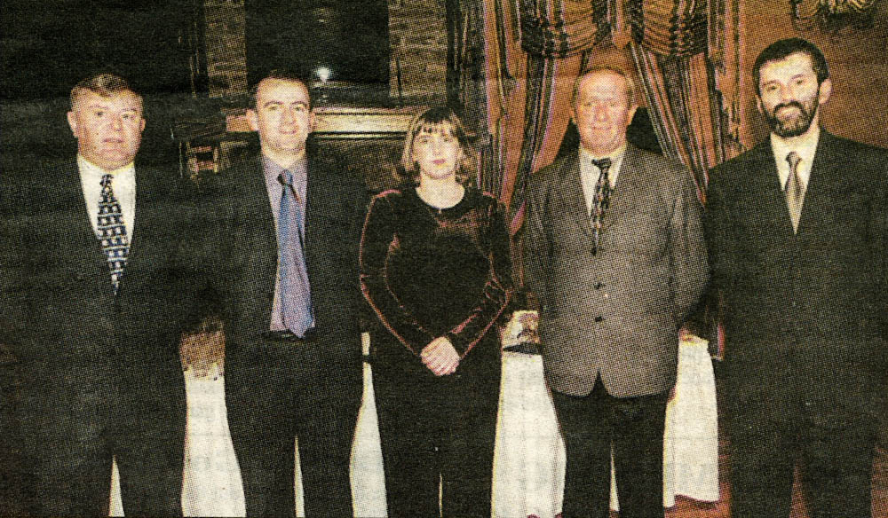 Members of the committee that organised the Laune Rangers' Banquet